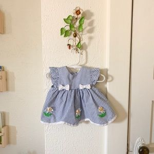 Cute checkered baby girl dress!